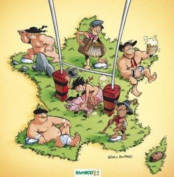 """Image tirée de la BD """"Rugbymen"""""""