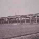 Vieille photo du stade Marcel Michelin : 1950 - Tribune Populaire
