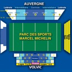 Plan du Parc des Sports Marcel Michelin