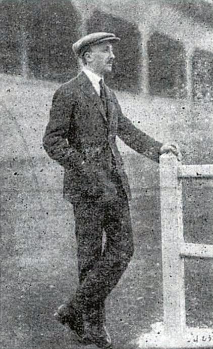 Marcel Michelin au stade en 1924