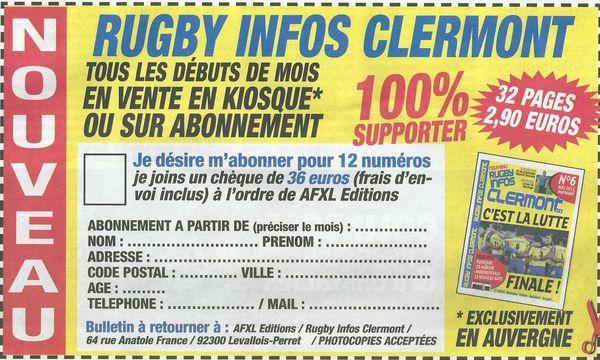 bulletin abonnement rugby infos