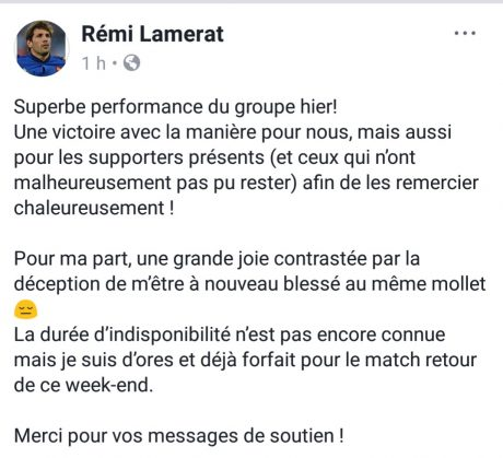 Message Remi Lamerat