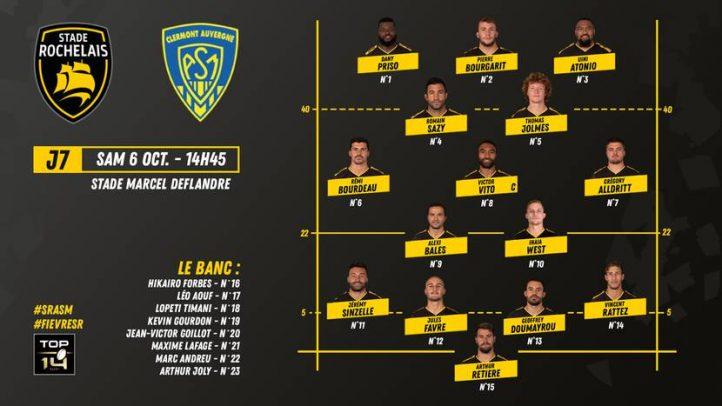 Composition Stade Rochelais ASM