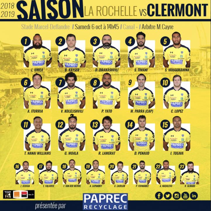 Composition Clermont SR v ASM