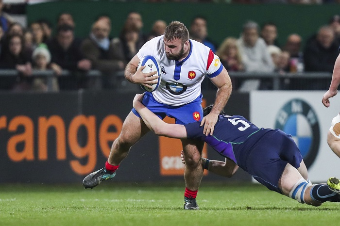 Giorgi Beria of France U20 during the U20 Six Nations match between on February 22, 2019 in Pau, France. (Photo by Manuel Blondeau/Icon Sport)